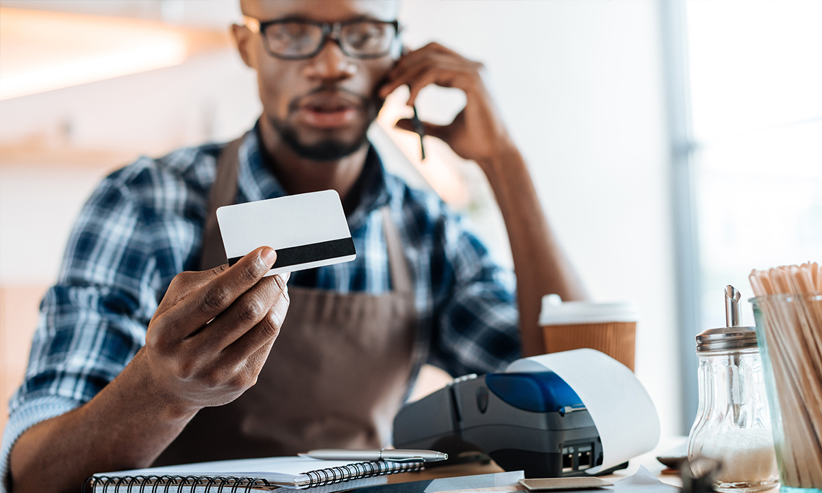 Making a credit card payment on the phone