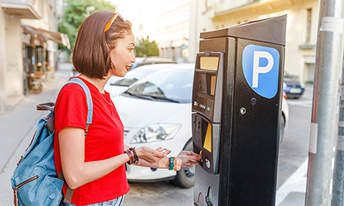 Driver Paying for Parking with Elavon's Public Sector Payment Solution